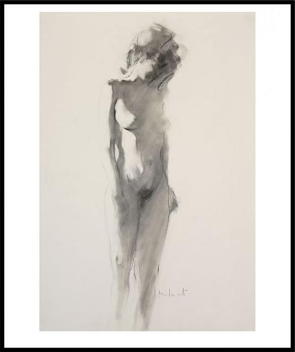 MALARET. Ref.025-002. Glicée Litográfico. Firmado por el Artista. Enmarcado en aluminio color negro.
